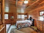 The Lake Side loft also has a twin bed and a full bed.