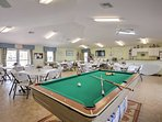 For some entertainment on rainy days, the community offers a clubhouse bursting with activity.