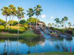Waterfall at the Entrance to Ko Olina