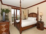 Master Bedroom with King Size Bed and Private Access to the Lanai