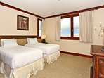 Third Bedroom with Extra Long Twin Beds that can be Converted to King