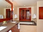 Master Bath with a Deep Soaking Tub and a Walk-in Shower