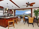 Large Pocket Doors Open to the Lanai to Bringing the Outside In.