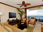 Living Area with a View of the Ocean