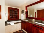 The Large Master Bath has both a Walk-in Shower and a Deep Soaking tub