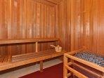 Sauna at the Beach Villas Fitness Center