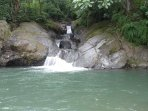 Las Minas natural waterfalls and swimming pools (Minas del Aguacate). Caution during the wet season.