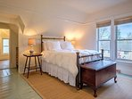 The master bedroom has a queen-size bed and a newly renovated large full bath.