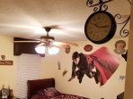 Harry Potter Themed room with 2 twin beds, private flat screen tv and cable