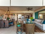 The open concept means family and friends are never far away and yet lots of other rooms for privacy