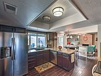 Prepare home-cooked feasts using the stainless steel appliances.