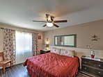 Another king-sized bed graces the second master bedroom.