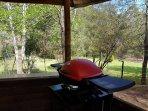 Outdoor BBQ area.