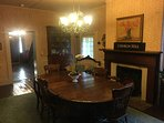 Large dining room for grand family meals!