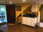 Microwave, Keurig, plus drip coffee maker and fully stocked kitchen