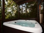 After a long day of hiking, enjoy the hottub to relax and unwind.