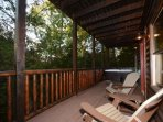 Head on downstairs and enjoy the hottub on the balcony for a little R&R