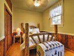 Climb under the covers of the queen-sized bed in the second bedroom.