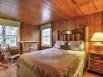 Spread out in the third bedroom which features a queen-sized bed.
