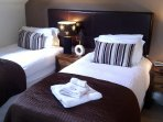 Each bedroom can have Superking Double or TWIN beds