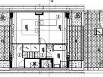 Upper floor of the 150 sq m apartment