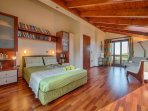 Attic Bedroom with private balcony - Villa Russelia in Rhodes