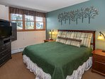 King in Master bedroom with slope views