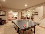 New! Ping pong table downstairs