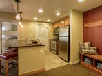 Fully-equipped kitchen with high end appliances