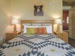 New bedding on second bedroom Queen