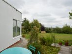 Sunny south facing  courtyard area with long distant views of the Cotswold Hills.