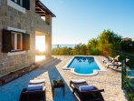The villa is situated in the center of southern Croatia (Dalmatia region), near Split