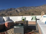 Rooftop Terrace with 360 degree mountain views and fire pit.