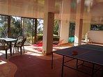 Enjoy a game of table tennis or Giant Jenga