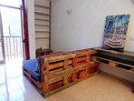 Some pallet-based furniture