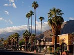 JUST UP THE STREET IS THE AMAZING PALM SPRINGS SHOPPING STRIP WITH FABULOUS RESTAURANTS AS WELL.