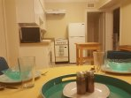 Downstairs eat-in kitchen