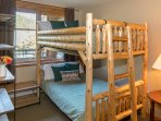 Second bedroom with unique full bunks
