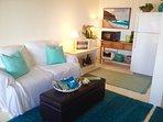 Beach-themed living room.