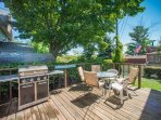 Backyard Deck with Gas Grill