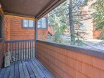 Breathe the fresh mountain air from the comfort of the unfurnished patio.