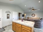 The open concept floor plan makes it easy to mingle with your companions.