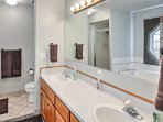 The master bedroom features a full en-suite bathroom.