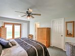 Enjoy access to the backyard straight from the master bedroom.