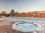 Enjoy pool access and mountain views!