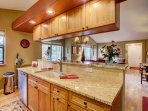This gourmet kitchen allows you to create meals as though you never left home!