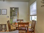Enjoy a home-cooked meal together at the dining table set for 4.