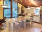 Use the kitchen's modern stainless steel appliances to experiment with new recipes and sear up some fresh East Coast...