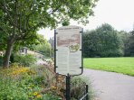 George V Park nearby with play areas, seats and walks.