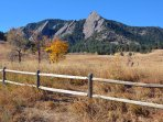 Chautauqua Park, just 2 blocks away.  Some of the most amazing hiking trails and picturesque views.